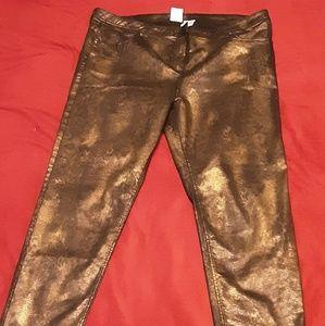 Gold snakeskin style pants CreationL
